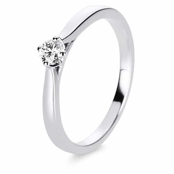 14 kt fehérarany szoliter 1 gyémánttal 1E235W455-1