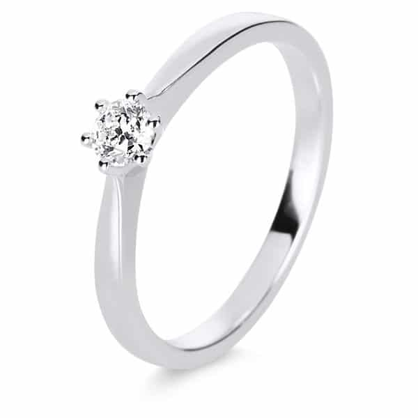 14 kt fehérarany szoliter 1 gyémánttal 1E244W454-2