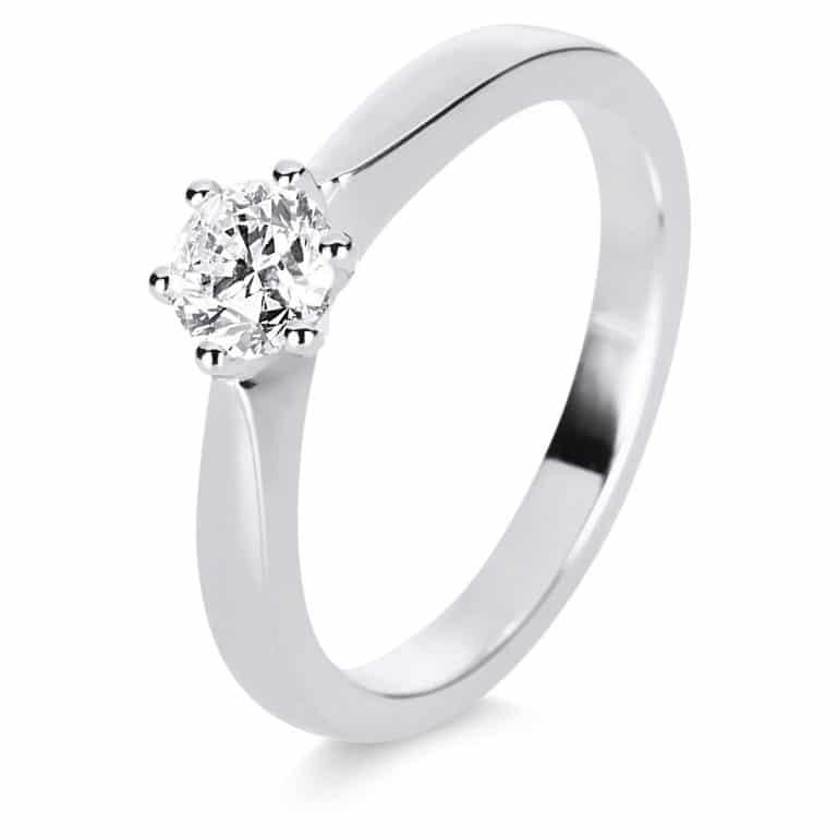 14 kt fehérarany szoliter 1 gyémánttal 1E248W454-2