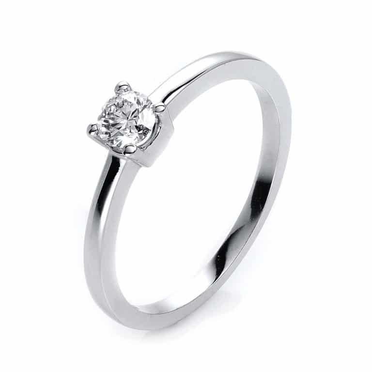 14 kt fehérarany szoliter 1 gyémánttal 1H316W453-1