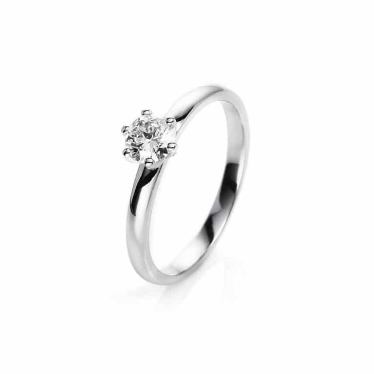 14 kt fehérarany szoliter 1 gyémánttal 1I031W454-3