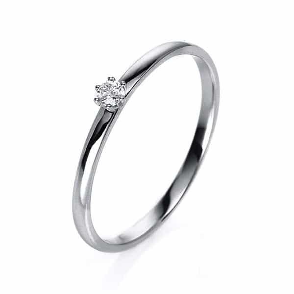 14 kt fehérarany szoliter 1 gyémánttal 1O320W450-5