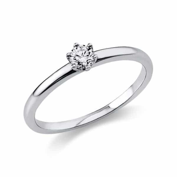 14 kt fehérarany szoliter 1 gyémánttal 1O322W454-16