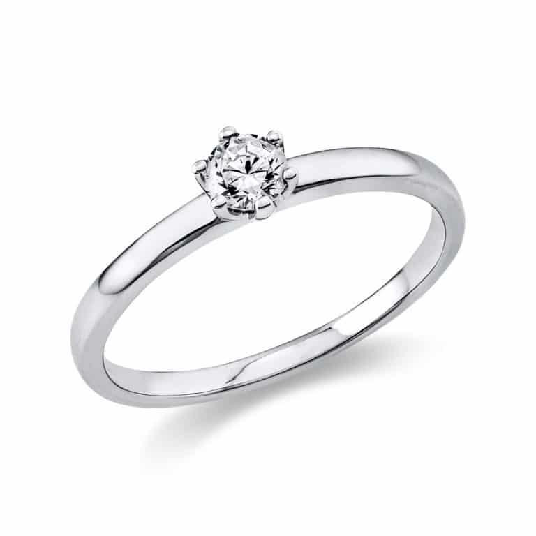 14 kt fehérarany szoliter 1 gyémánttal 1O323W455-7