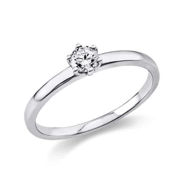 14 kt fehérarany szoliter 1 gyémánttal 1O323W456-4