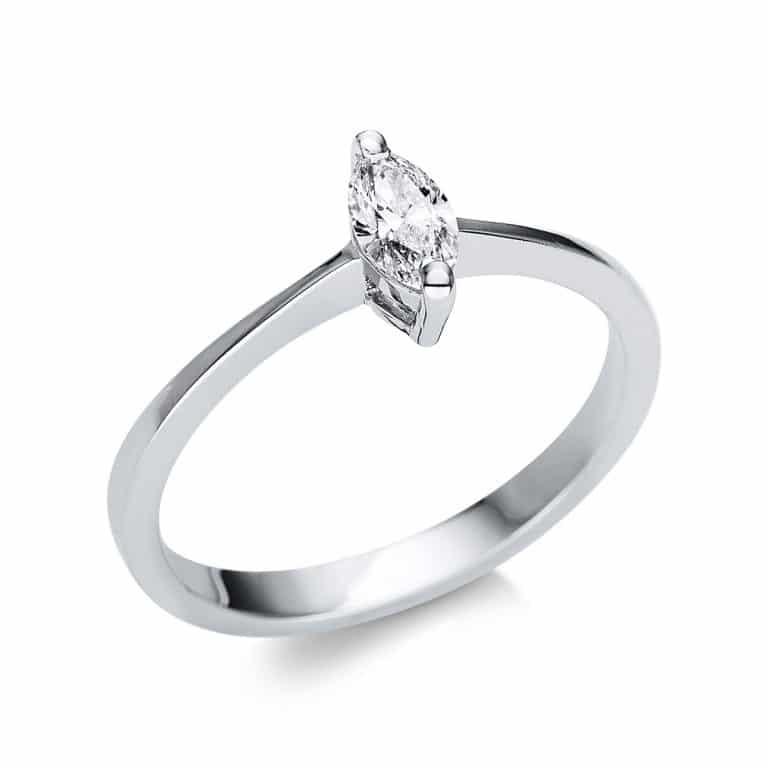 14 kt fehérarany szoliter 1 gyémánttal 1U602W452-1