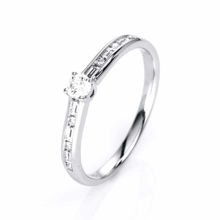 14 kt fehérarany szoliter oldalkövekkel 13 gyémánttal 1C520W454-1