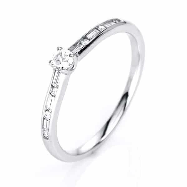 14 kt fehérarany szoliter oldalkövekkel 13 gyémánttal 1C855W454-1