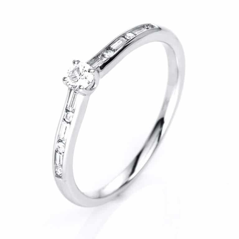 14 kt fehérarany szoliter oldalkövekkel 13 gyémánttal 1C855W456-1