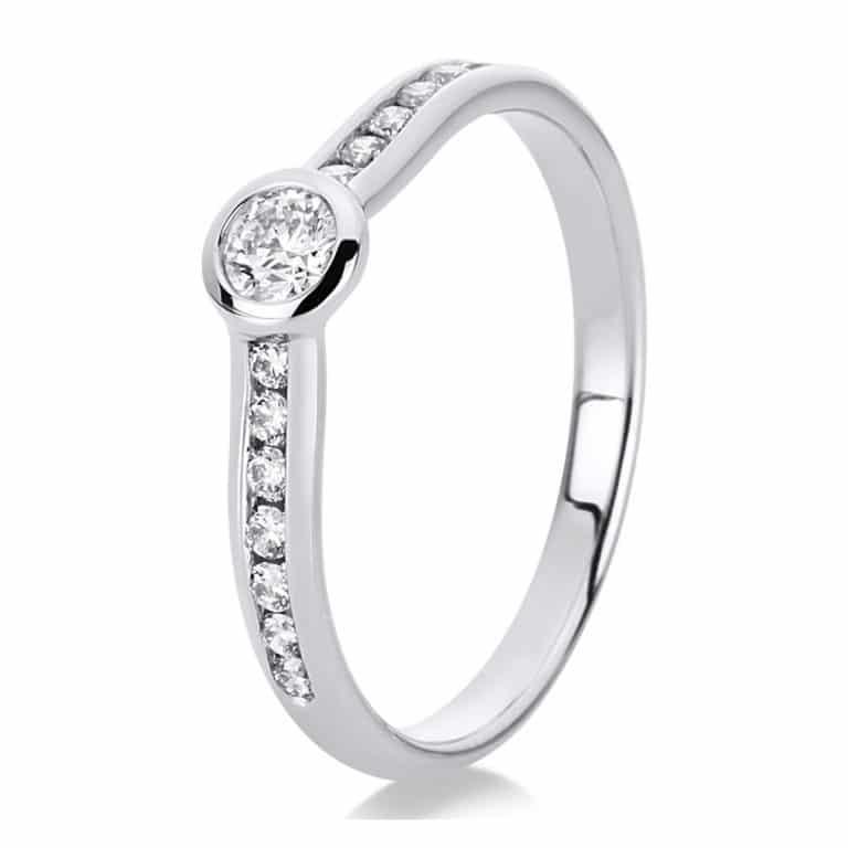 14 kt fehérarany szoliter oldalkövekkel 15 gyémánttal 1C523W454-1