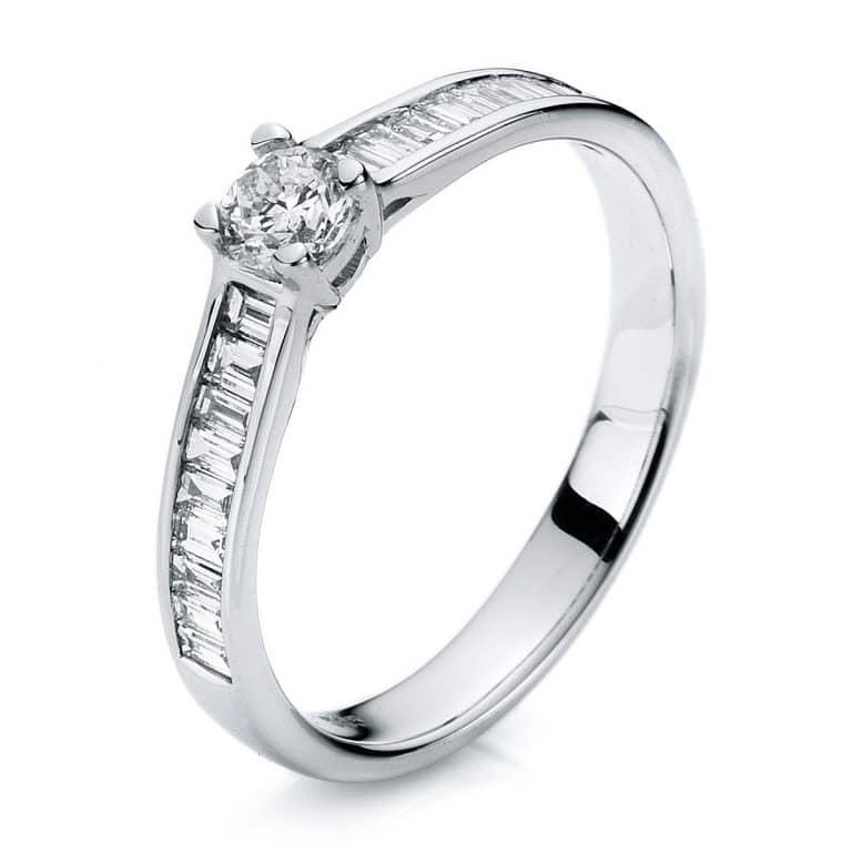 14 kt fehérarany szoliter oldalkövekkel 19 gyémánttal 1A283W454-1
