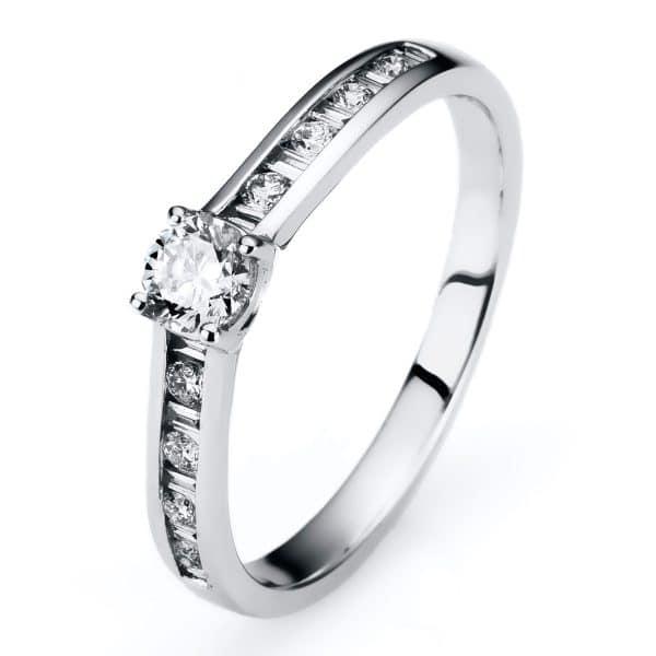 14 kt fehérarany szoliter oldalkövekkel 19 gyémánttal 1A309W453-1