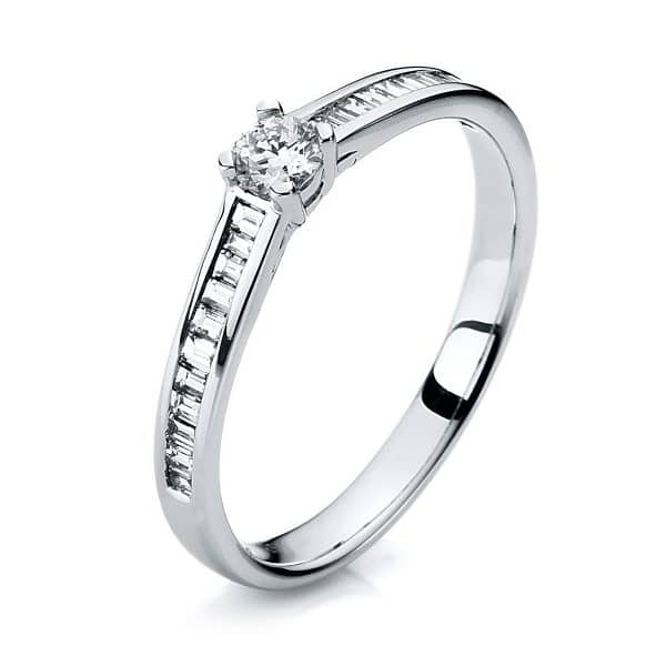 14 kt fehérarany szoliter oldalkövekkel 23 gyémánttal 1A285W454-2