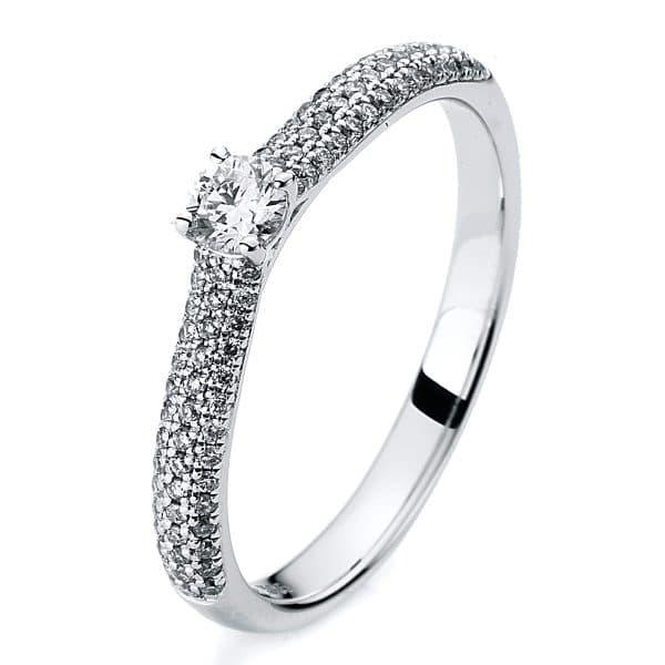 14 kt fehérarany szoliter oldalkövekkel 79 gyémánttal 1A419W454-1