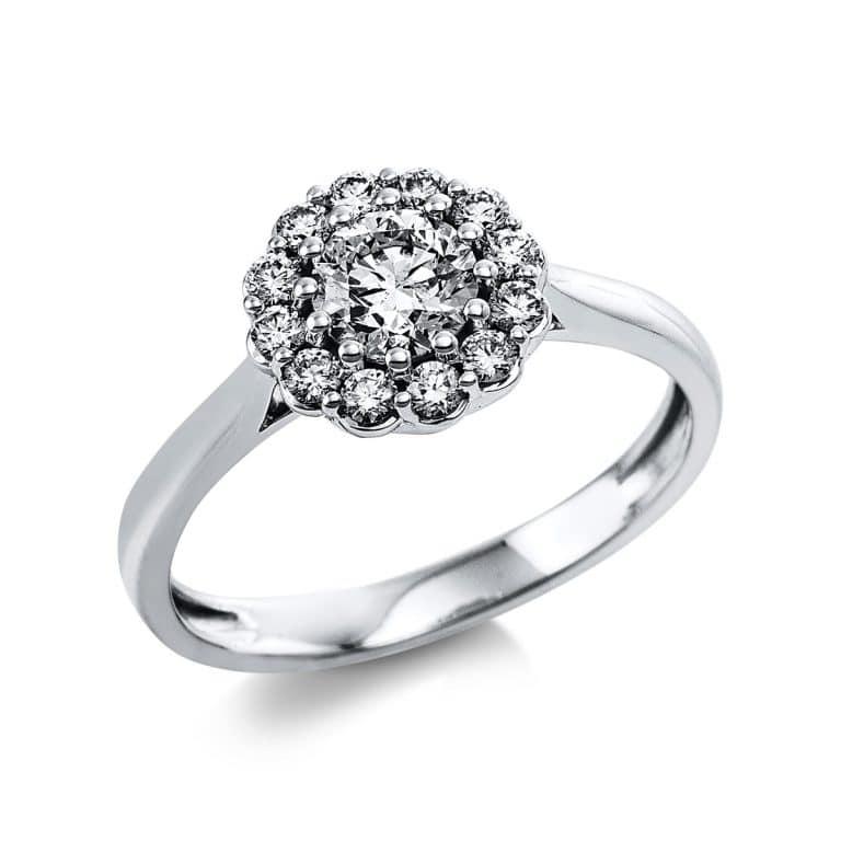 14 kt fehérarany több köves gyűrű 13 gyémánttal 1V647W454-1