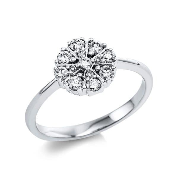 14 kt fehérarany több köves gyűrű 13 gyémánttal 1V656W454-1