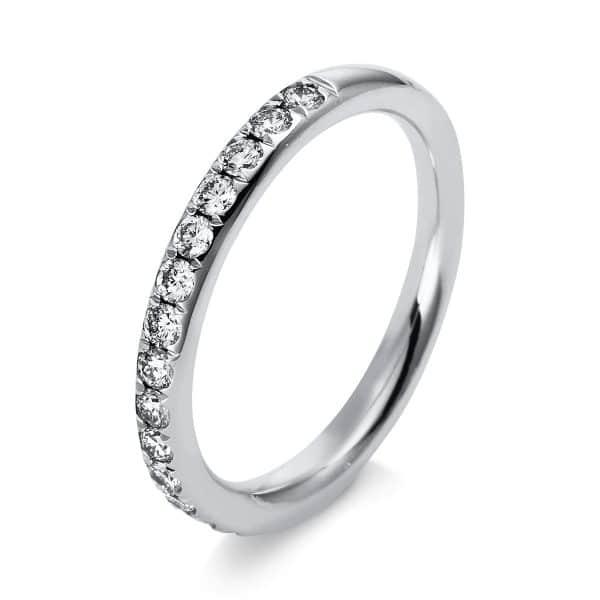 14 kt fehérarany több köves gyűrű 17 gyémánttal 1B817W454-1