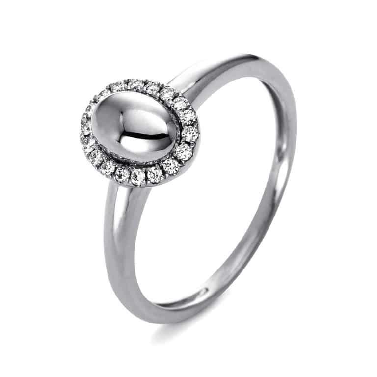 14 kt fehérarany több köves gyűrű 18 gyémánttal 1Q812W456-1