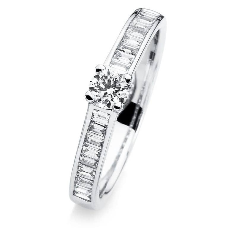 14 kt fehérarany több köves gyűrű 23 gyémánttal 1A282W454-1