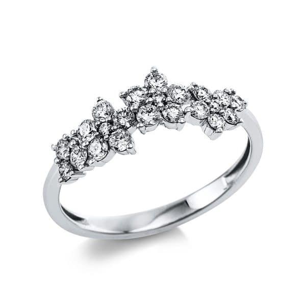 14 kt fehérarany több köves gyűrű 41 gyémánttal 1V642W454-1