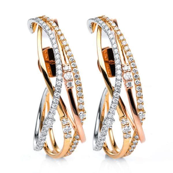 14 kt  fülbevaló 132 gyémánttal 2D269T4-1