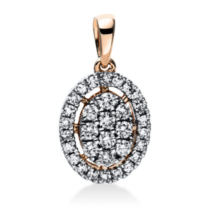 14 kt red gold pendant with 32 diamonds 3E053R4-1