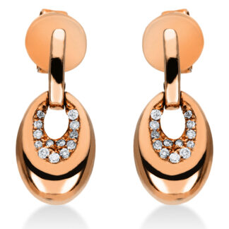 14 kt red gold studs with 26 diamonds 2J193R4-1