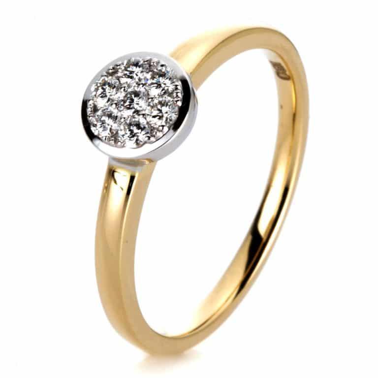 14 kt sárga arany / fehérarany illúzió 7 gyémánttal 1A295GW453-2