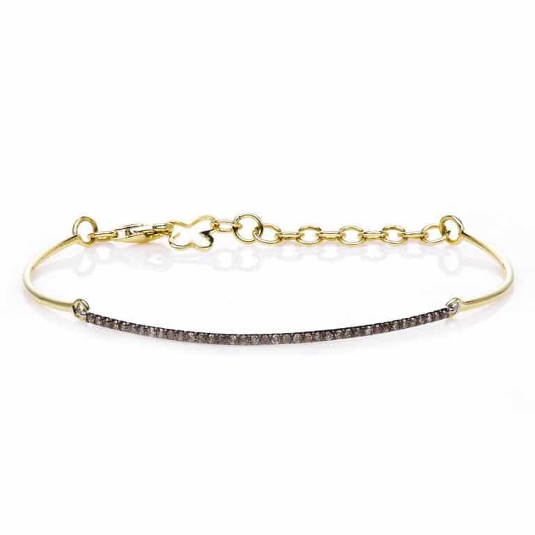 14 kt sárga arany / fehérarany karkötő 38 gyémánttal 5A083GW4-1