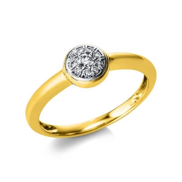 14 kt sárga arany / fehérarany pavé 10 gyémánttal 1V575GW454-1