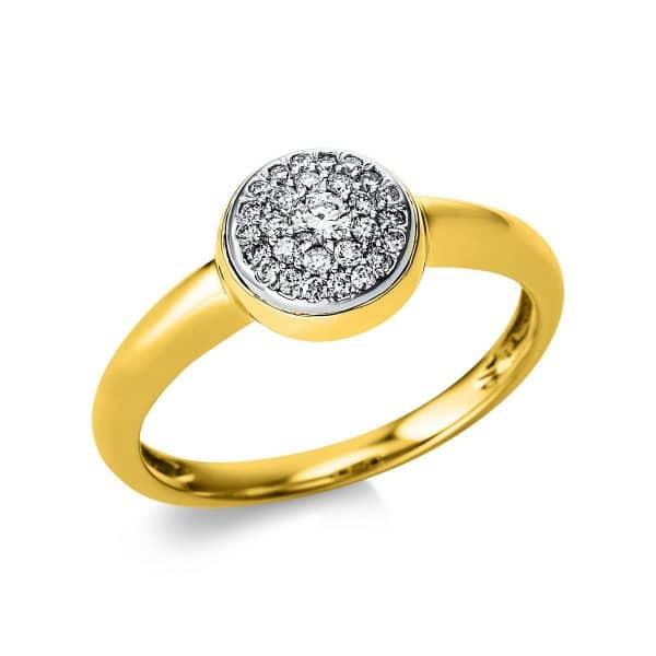 14 kt sárga arany / fehérarany pavé 28 gyémánttal 1V576GW454-1