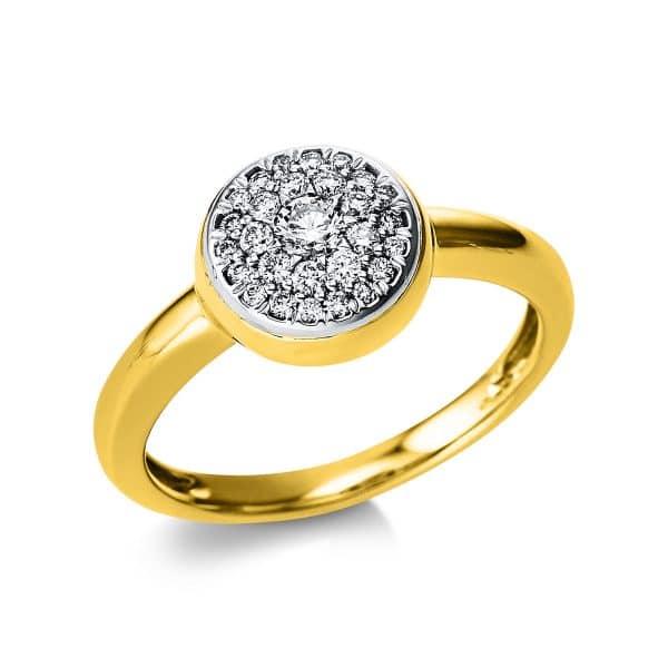 14 kt sárga arany / fehérarany pavé 28 gyémánttal 1V577GW454-1