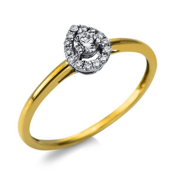 14 kt sárga arany / fehérarany szoliter oldalkövekkel 15 gyémánttal 1S129GW454-1