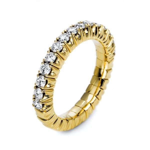 14 kt sárga arany félig köves eternity 15 gyémánttal 1M248G455-1
