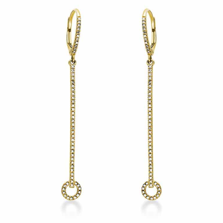 14 kt sárga arany fülbevaló 112 gyémánttal 2I941G4-1