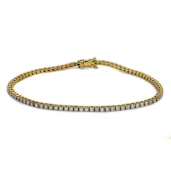 14 kt sárga arany karkötő 84 gyémánttal 5B135G4-1