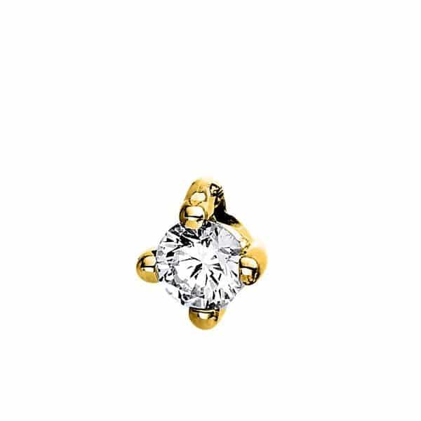 14 kt sárga arany medál 1 gyémánttal 3C862G4-1