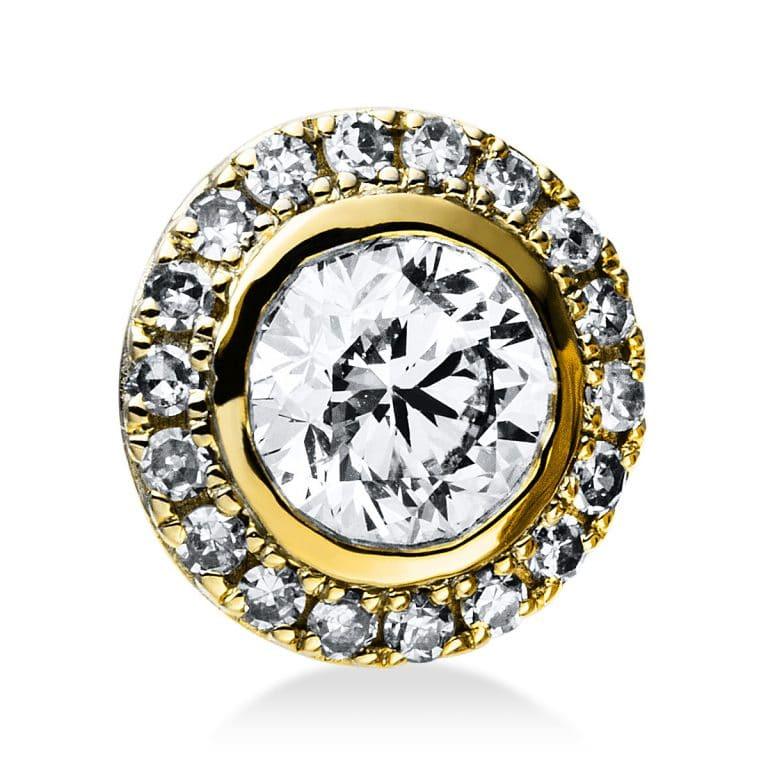 14 kt sárga arany medál 19 gyémánttal 3E036G4-1