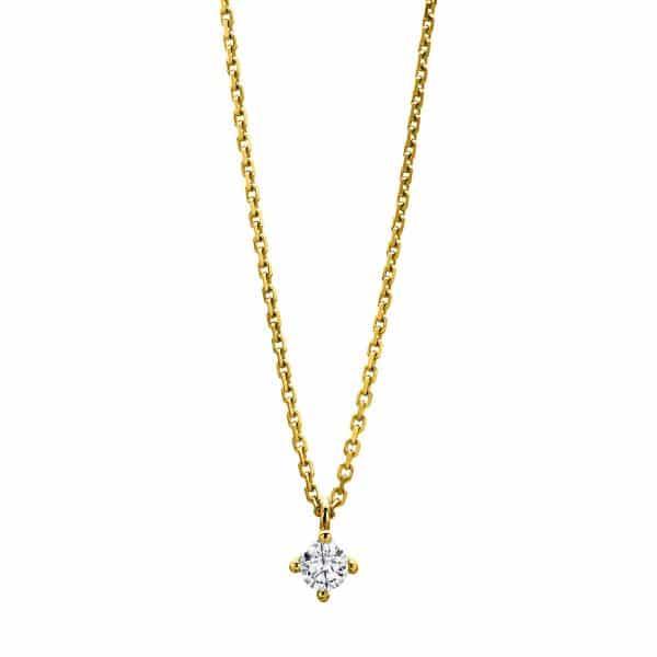 14 kt sárga arany nyaklánc 1 gyémánttal 4A309G4-1