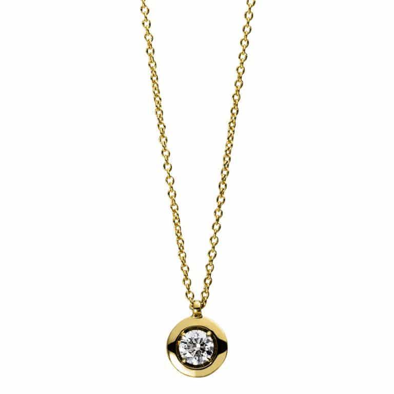 14 kt sárga arany nyaklánc 1 gyémánttal 4D561G4-1