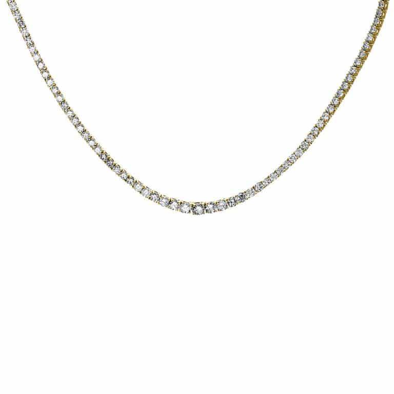 14 kt sárga arany nyaklánc 202 gyémánttal 4F450G4-1