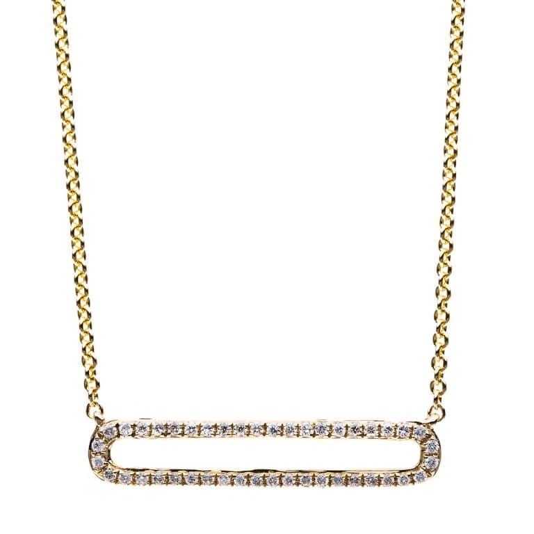 14 kt sárga arany nyaklánc 44 gyémánttal 4B028G4-1