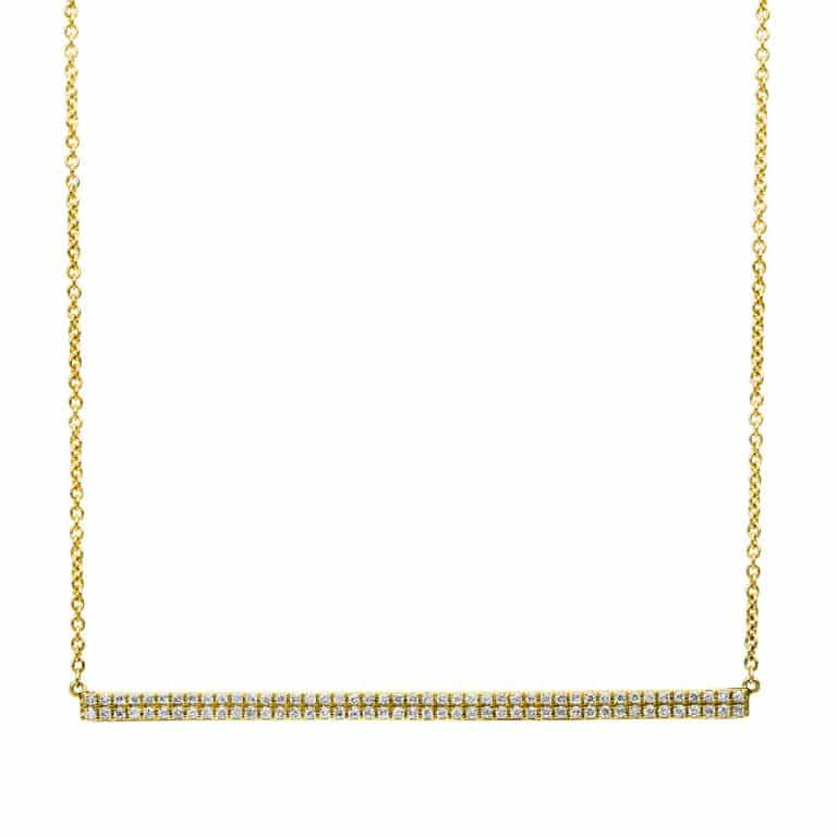14 kt sárga arany nyaklánc 90 gyémánttal 4B034G4-1
