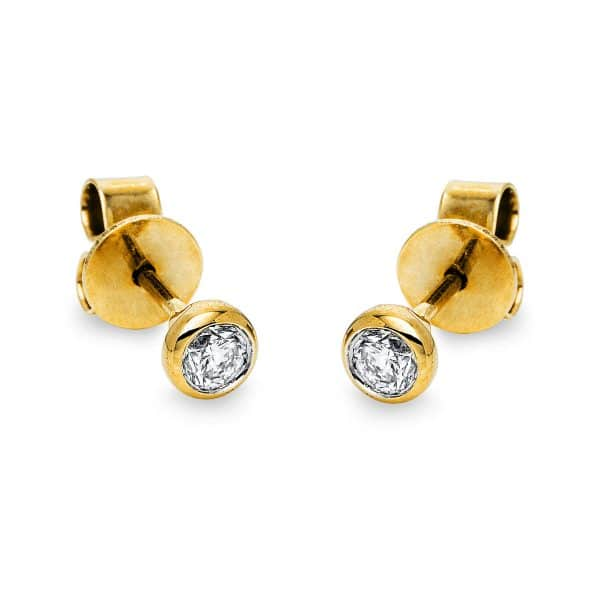 14 kt sárga arany steckeres 2 gyémánttal 2J432G4-1