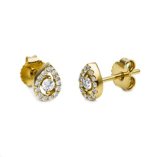 14 kt sárga arany steckeres 28 gyémánttal 2G239G4-2