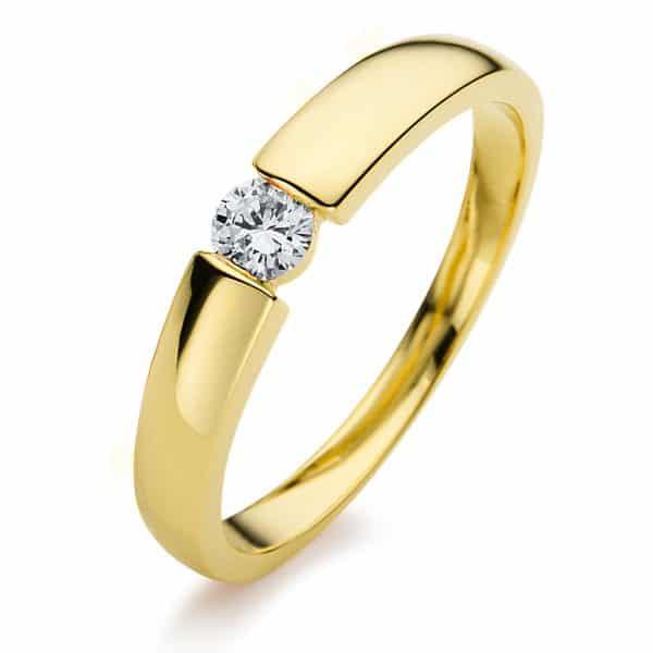 14 kt sárga arany szoliter 1 gyémánttal 1A396G452-2