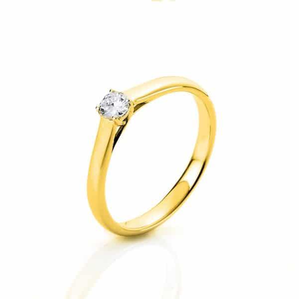 14 kt sárga arany szoliter 1 gyémánttal 1A441G458-1