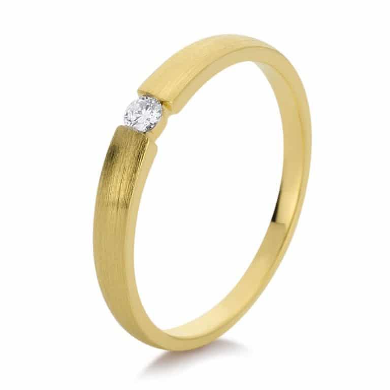 14 kt sárga arany szoliter 1 gyémánttal 1D876G456-4