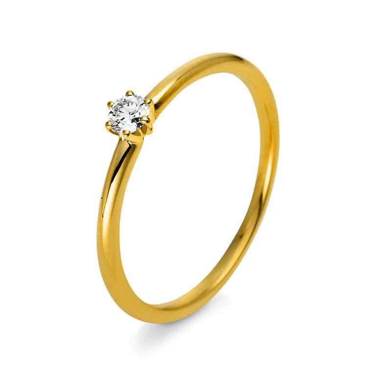 14 kt sárga arany szoliter 1 gyémánttal 1Q400G455-1