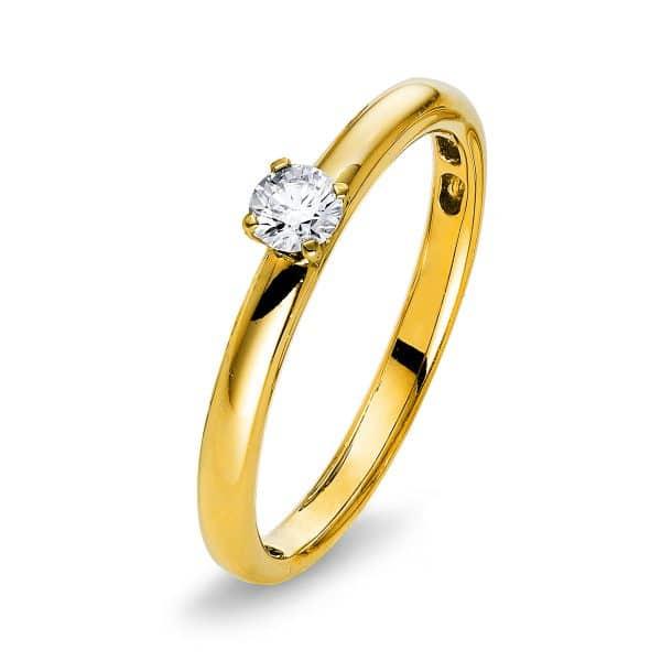 14 kt sárga arany szoliter 1 gyémánttal 1Q419G455-1